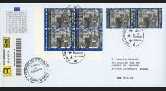PE408a : 2000 - Env. de service PE RECO 1er Jour Luxembourg TP '50 ans Déclaration Schuman'
