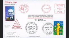PE409 : 2000 - FDC Session du PE - 1er Jour TP Europa 'Robert Schuman'