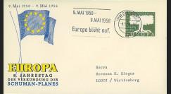 CECA1 : 1958 - FDC Allemagne '8e anniversaire du Plan Schuman'