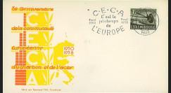 CECA5 : 1958 - FDC Luxembourg '8e anniversaire de la CECA'