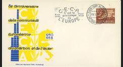 CECA5a : 1958 - FDC Luxembourg '8e anniversaire de la CECA' flamme petit format