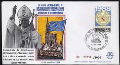 PAP3 type1 : 1988 Pape Jean-Paul II Eucharistie à la Cathédrale de Strasbourg