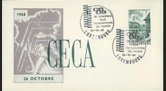 CECA11 : 1966 - FDC Luxembourg 'CECA - 3e Congrès sur l'utilisation de l'Acier'