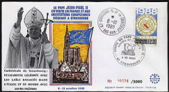 PAP3 type2 : 1988 Pape Jean-Paul II Eucharistie à la Cathédrale de Strasbourg