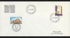 LUX17La : 1982 - Env. de service PE 1er Jour du TP Luxembourg 'Europa - Traité de Paris 1951'