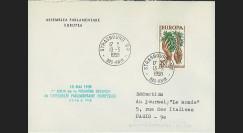 AP1 : 1958 - Env. de service '1ère session de la présidence de Schuman'