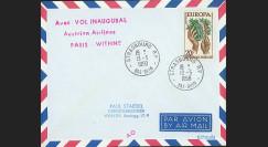 AP1 AV : 1958 - Env. PAR AVION '1ère session de la présidence de Schuman'