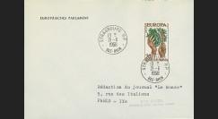 AP2 : 1958 - Env. de service '2e session de la présidence de Schuman'