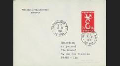AP3 : 1958 - Env. de service '3e session de la présidence de Schuman'