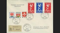 AP5a : 1958 - Env. de service PE '5e session de la présidence de Schuman'