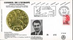 "CE40 : 1988 - FDC Session CE ""Visite du 1er Ministre du Portugal"