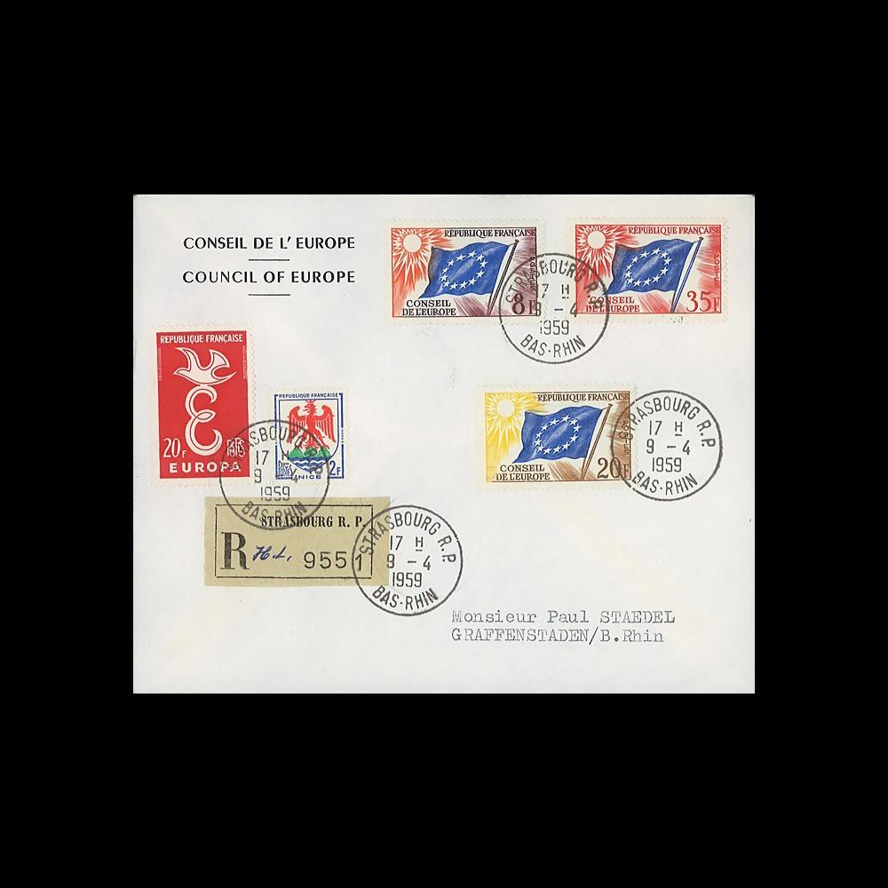 AP6b : 1959 - Env. de service CE RECO '6e session de la présidence de Schuman'