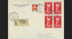 AP7a : 1959 - Env. de service PE RECO '7e session de la présidence de Schuman'
