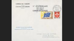AP7c : 1959 - Env. de service CE '7e session présidence Schuman' et '10 ans du CE'