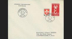 AP8 : 1959 - Env. de service PE '8e session de la présidence de Schuman'