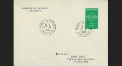 AP9 : 1959 - Env. de service PE '9e session de la présidence de Schuman'