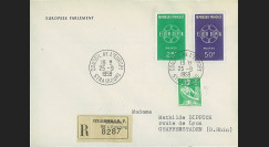 AP9a : 1959 - Env. de service CE RECO '9e session de la présidence de Schuman'