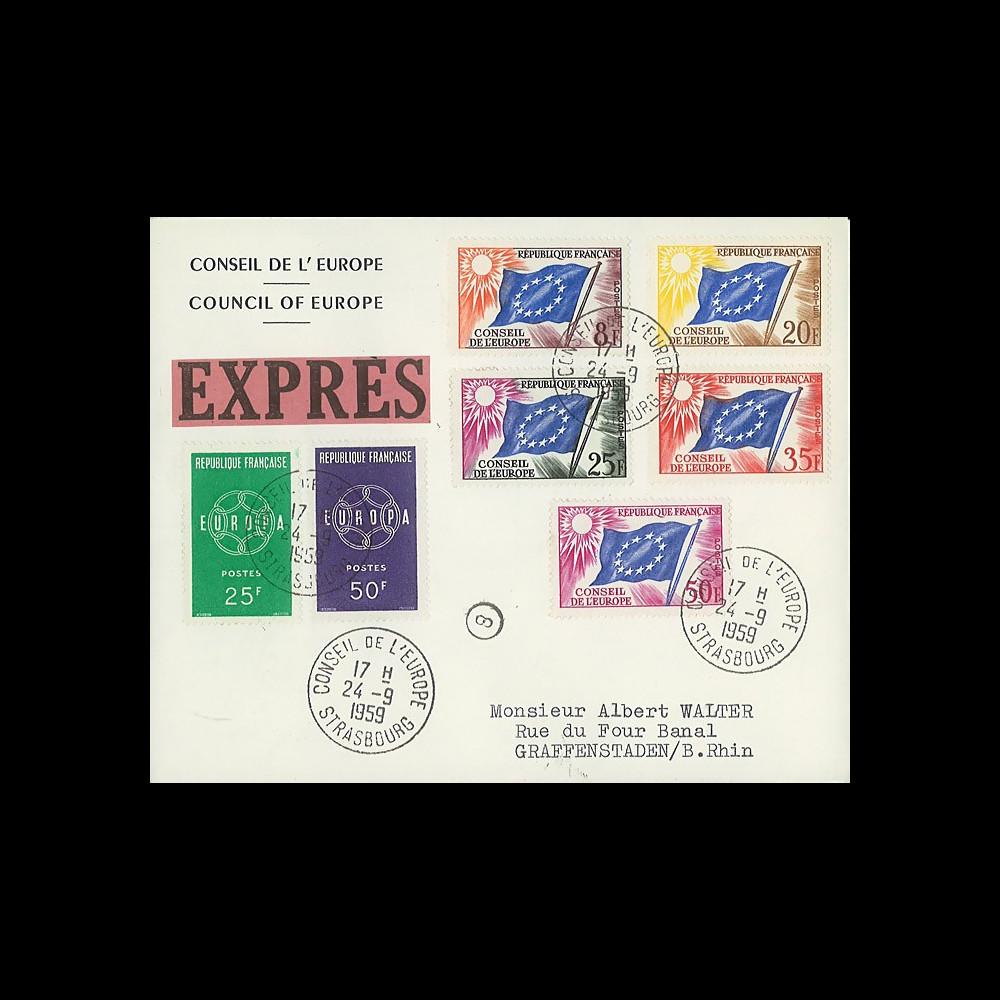 AP9b : 1959 - Env. de service CE EXPRES '9e session de la présidence de Schuman'