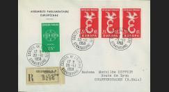 AP10a : 1959 - Env. de service PE RECO '10e session de la présidence de Schuman'