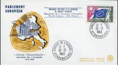 AP36 : 1963 - FDC Parlement européen 'Hommage à la mémoire de Robert Schuman'