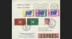 AP36E : 1963 - Env. de service CE EXPRES - session extraordinaire Parlement eur. 'Hommage à Robert Schuman'