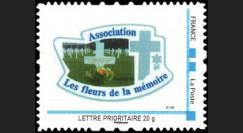 DEB10-1N : 2010 - TPP France 'Les fleurs de la mémoire' - Lettre prio 20g