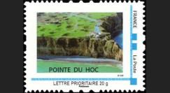 DEB10-7N : 2010 - TPP France 'Vue aérienne de la Pointe du Hoc' - Lettre prio 20g