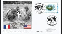 DEB10-1 : 2010 - FDC D-Day 1944 - TPP 'Les fleurs de la mémoire' - Lettre prio