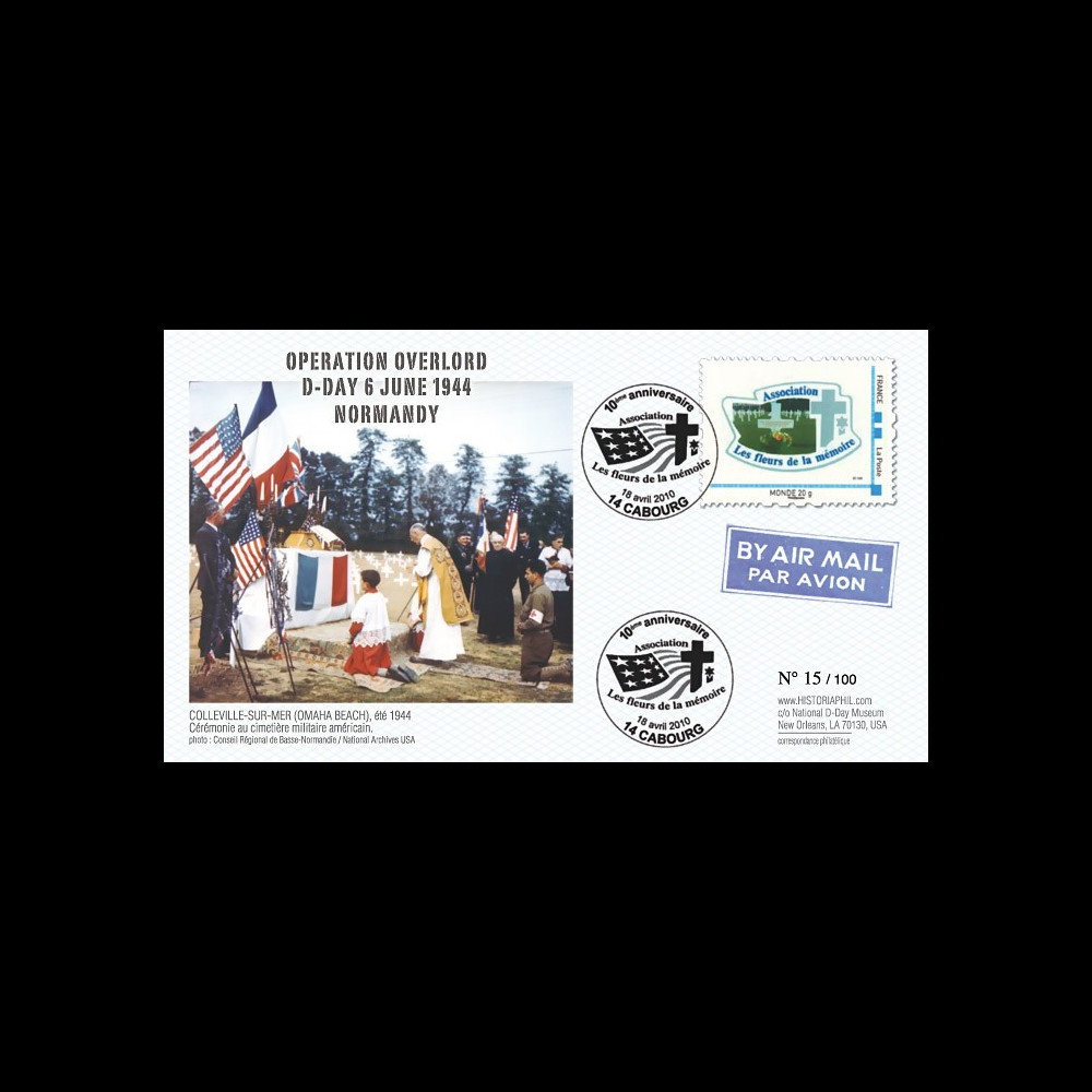 DEB10-2 : 2010 - FDC D-Day 1944 - TPP 'Les fleurs de la mémoire' - Monde
