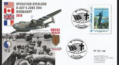DEB10-3 : 2010 - FDC D-Day 1944 - TPP 'Statue cimetière américain' - Lettre prio