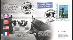 DEB10-4 : 2010 - FDC D-Day 1944 - TPP 'Statue cimetière américain' - Monde