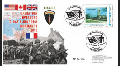 DEB10-5 : 2010 - FDC D-Day 1944 - TPP 'Britany American Cemetery Saint-James' - Lettre prio