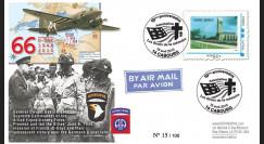 DEB10-6 : 2010 - FDC D-Day 1944 - TPP 'Britany American Cemetery Saint-James' - Monde