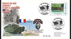 DEB10-7 : 2010 - FDC D-Day 1944 - TPP 'Vue aérienne de la Pointe du Hoc' - Lettre prio