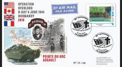 DEB10-8 : 2010 - FDC D-Day 1944 - TPP 'Vue aérienne de la Pointe du Hoc' - Monde