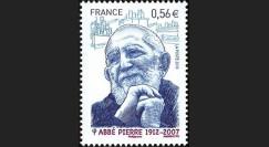 ABP4N : 2010 - Timbre-poste gommé 'Abbé Pierre 1912-2007'