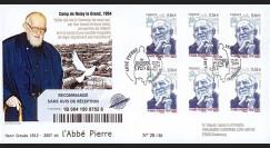 ABP5R : 2010 - FDC RECO Premier Jour TP 'Abbé Pierre' - oblitération Esteville