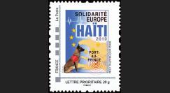 HAITI-N1 : 2010 - TPP 'Europe Solidarité Haïti 2010' - Lettre Prio 20g France