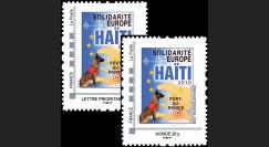 HAITI-N1-2 : 2010 - 2 TPP 'Europe Solidarité Haïti 2010' - Lettre Prio + Monde 20g