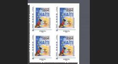 HAITI-N2B4 : 2010 - Bloc de 4 TPP 'Europe Solidarité Haïti 2010' - Monde 20g