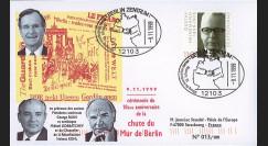 BERL99-1 : 1999 - FDC Allemagne 'Cérémonie 10 ans Chute du Mur de Berlin'