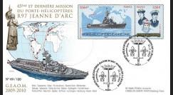 NAV09JA-1 : 2009 - FDC '45e et dernière mission du PH Jeanne d'Arc' - oblit. Paris