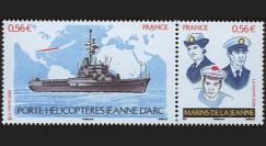 NAV09JA-1N : 2009 - Diptyque 'Porte-hélicoptère Jeanne d'Arc / Marins de la Jeanne'