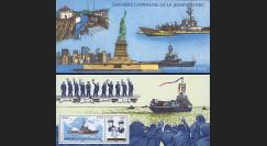 NAV09JA-1BN : 2009 - Bloc-feuillet 'Porte-hélicoptère Jeanne d'Arc / Marins de la Jeanne'