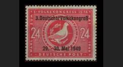 ZS51A : 1949 - TP 24Pf '3e Congrès populaire' - Zone soviétique d'Occ. en Allemagne