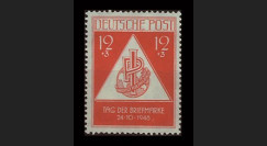 ZS31 : 1948 - TP 12+3Pf 'Journée du Timbre' - Zone soviétique d'Occ. en Allemagne