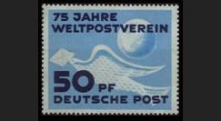 ZS59 : 1949 - TP 50Pf '75 ans UPU' - Zone soviétique d'Occ. en Allemagne