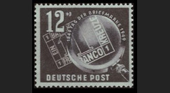 ZS60 : 1949 - TP 12+3Pf 'Journée du Timbre' - Zone soviétique d'Occ. en Allemagne