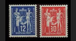 ZS61-62 : 1949 - TP 12 & 30Pf 'Journée des Postiers' - Zone soviétique d'Occ. en Allemagne