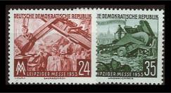 DDR113-114 : 1953 - 2 valeurs DDR 'Foire d'automne de Leipzig'